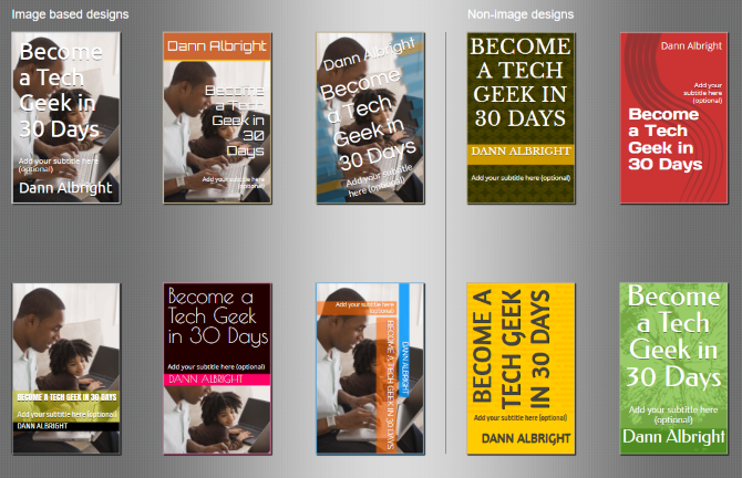Kindle Direct Publishing Cover Creator suggestions