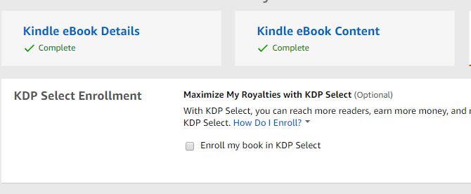 Choosing KDP or KDP select for an ebook