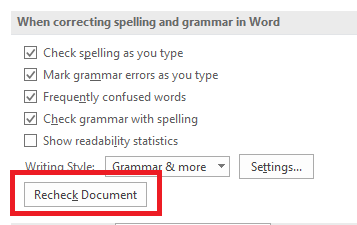 describe ways of checking finished documents for accuracy