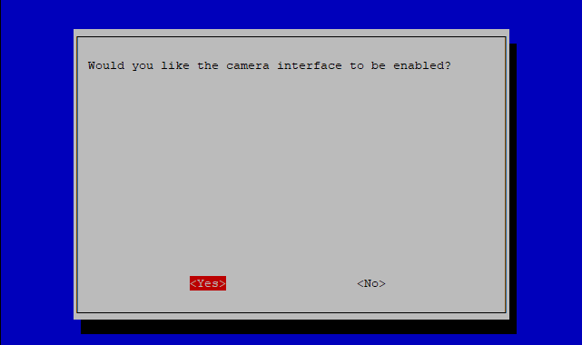 Enable your Raspberry Pi camera in the raspi-config screen