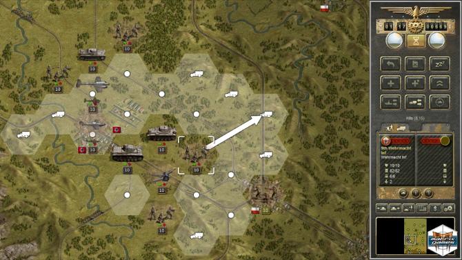 tank games - Panzer Corps strategy planning screenshot