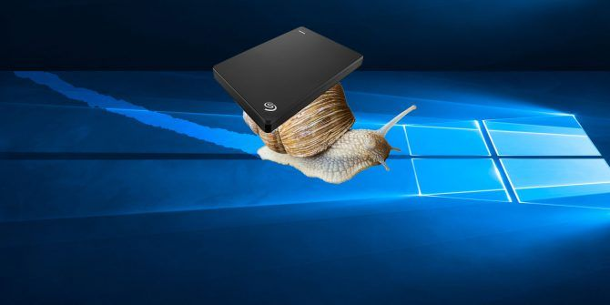 How to Fix a Slow External Hard Drive in Windows 10