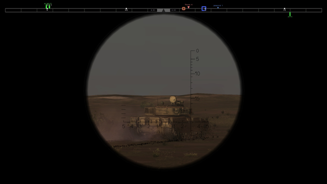 tank games - Steel Armor: Blaze of War tank gunner view