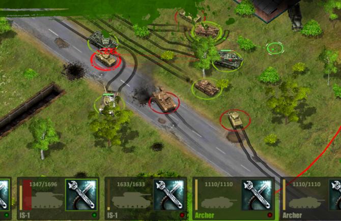 tank games - Tank Tactics battle