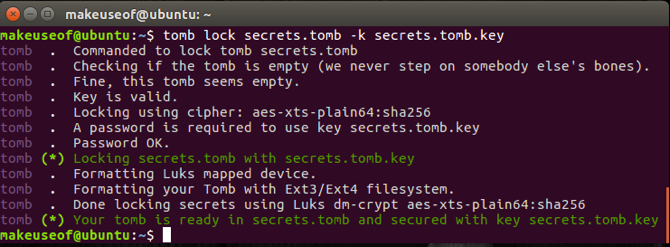 protect sensitive data using tomb on linux