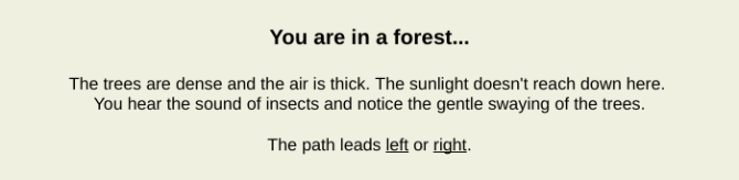 cool weird websites - you are in a forest