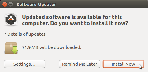 Install updates using the Software Updater in Ubuntu 16.04