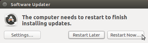 Restart to finish installing updates