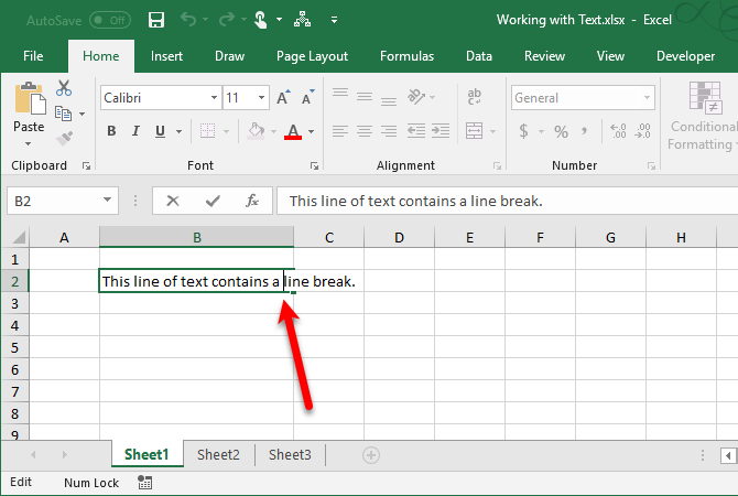 excel text functions - Enter a line break in a cell