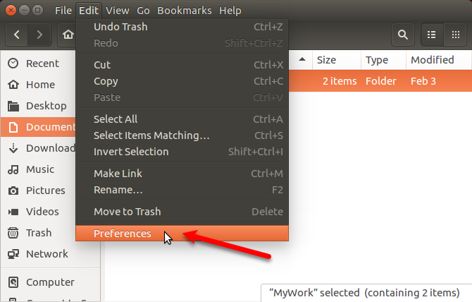 Go to Edit > Preferences in Nautilus in Ubuntu