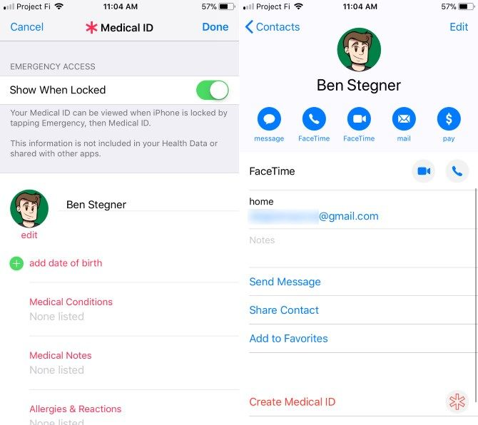 set up new iphone - Medical ID Settings