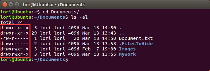 Permissions on files and directories in Linux