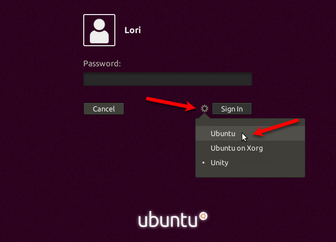 Change the desktop environment in Ubuntu 17.10