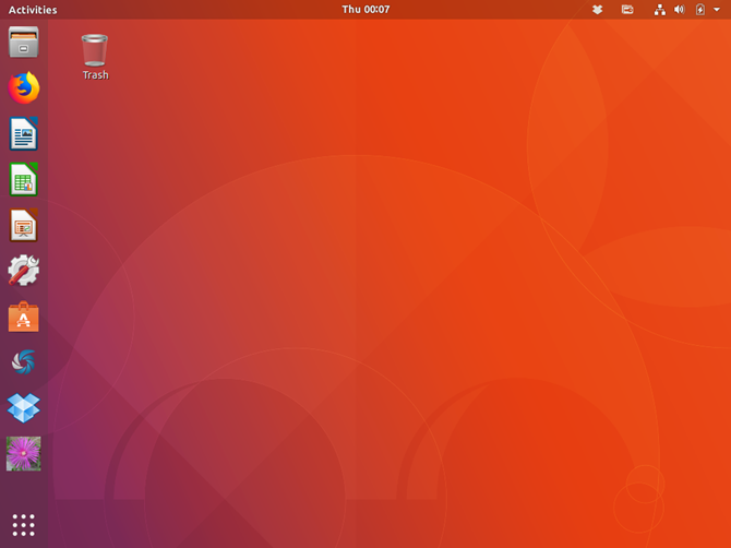 Ubuntu 17.10 with the Ubuntu desktop environment