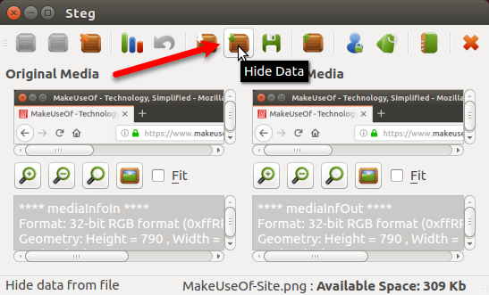 Hide a file inside an image using Steg in Ubuntu