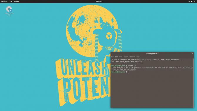 Pop!_OS Desktop Environment
