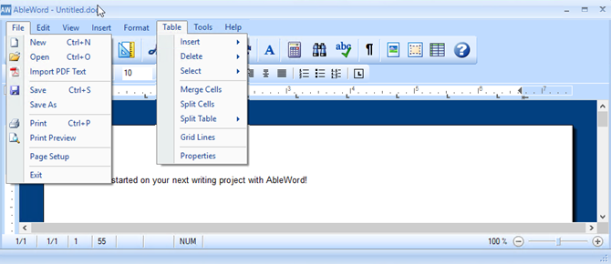 Review of the Free Word Processor AbleWord - lifewire.com