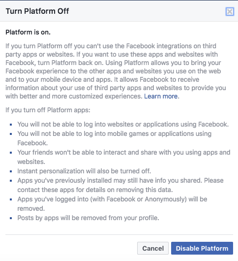 Facebook Privacy Tip: How to Limit Your Data Being Shared With Third Parties FB Platform 2