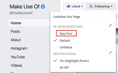 How to Reverse Facebook's News Feed Change and See Your Favorite Pages Again Facebook Pages See First