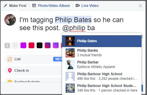 The 3 Most Important Ways to Tag Someone on Facebook Facebook Tag Status Update
