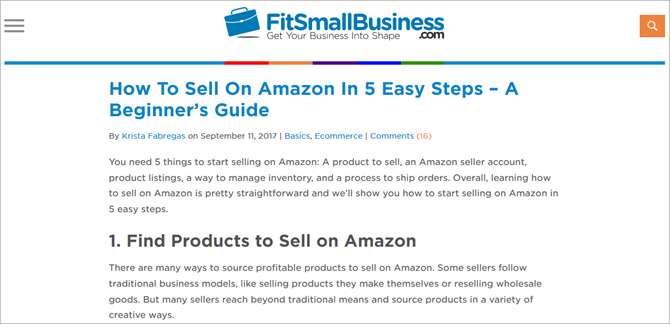 How to Sell on Amazon - FitSmallBusiness