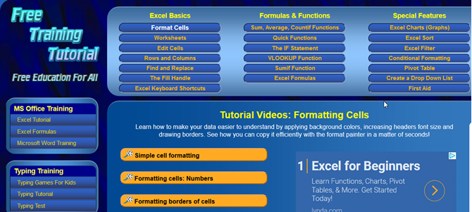 Learn microsoft excel video tutorials