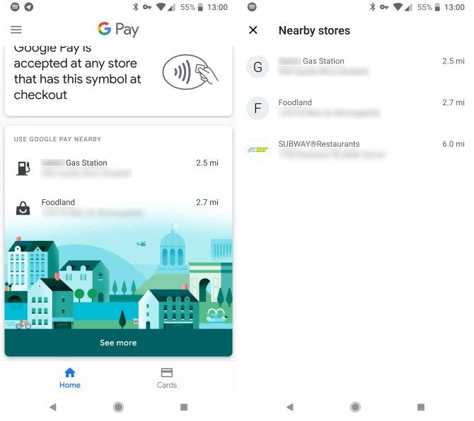 Google Pay Find Stores