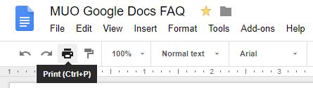 Print to Google Docs