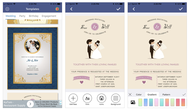 6 digital wedding invitation apps to save money and time create your own wedding invitations with invitation card maker mobile app stopboris Images