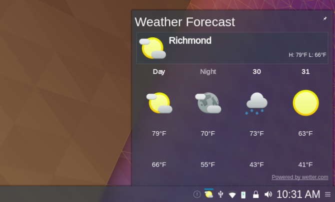 While Not A Full N The Plasma Desktop S Weather Widget Can Go In Your System Tray Or On Background