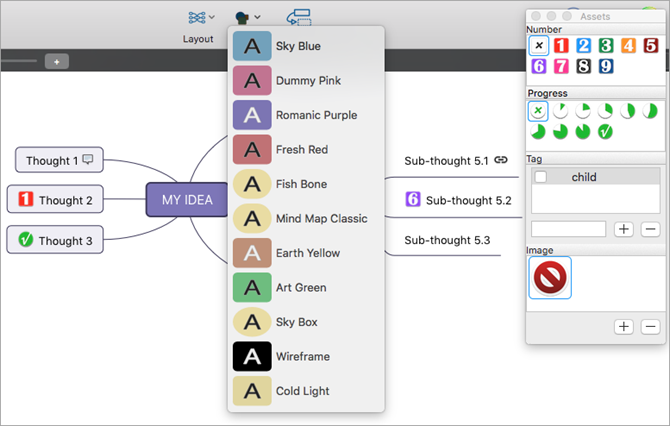 Mydea Lite Mac Mind Map