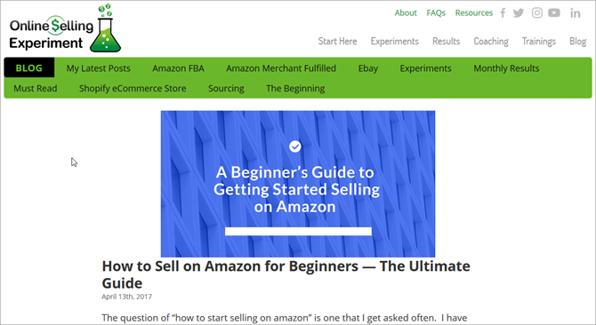 How to Sell on Amazon - Online Selling Experiment