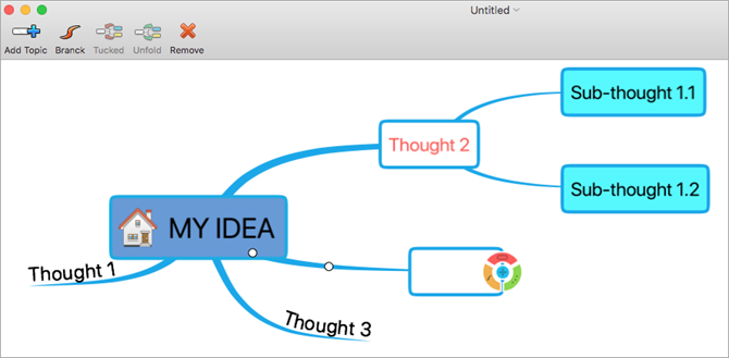 QMindMap Lite Mac Mind Map
