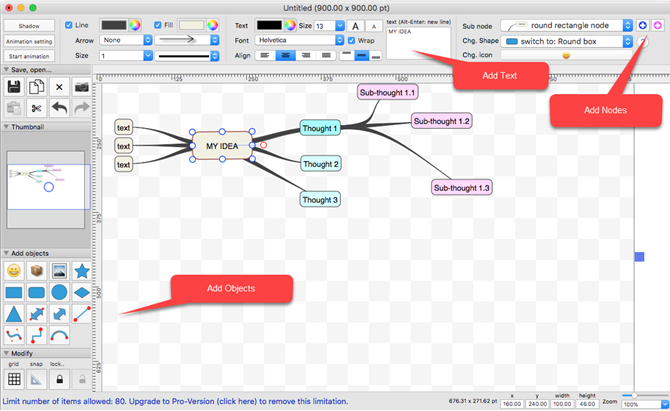 SimpleMindMap Mac Mind Map