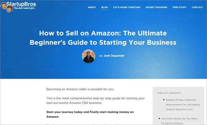 How to Sell on Amazon - StartupBros