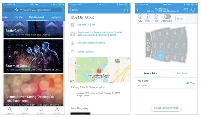 Ticketmaster Event App