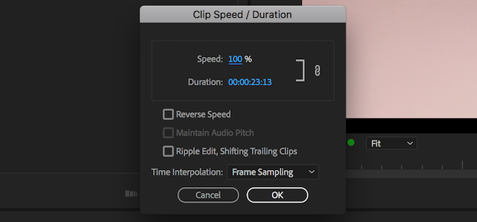 time remapping premiere pro - speed duration