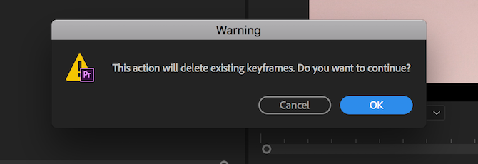 time remapping premiere pro - warning