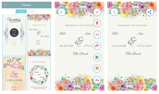 6 digital wedding invitation apps to save money and time create your own wedding invitations with wedding invitations cards cruise infotech maker mobile app stopboris Images