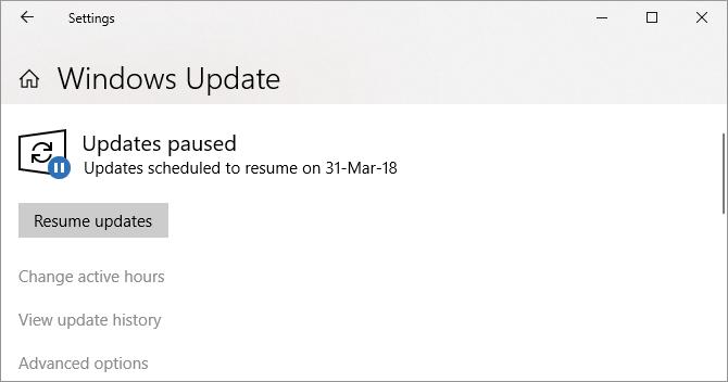 Windows 10 Windows Update stopped