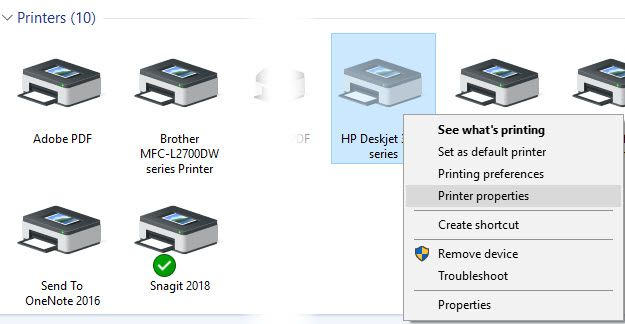 Windows 7 Change Printer Name