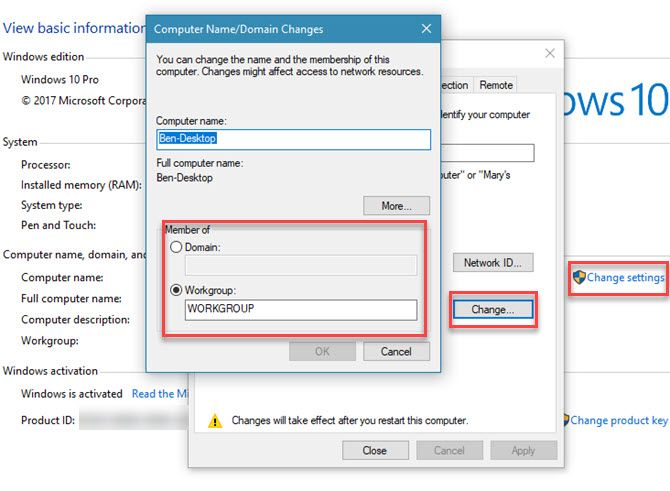 What Is a Windows Domain - change domain