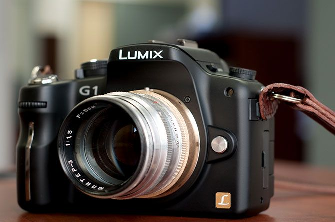 Adapted lens on Panasonic Lumix