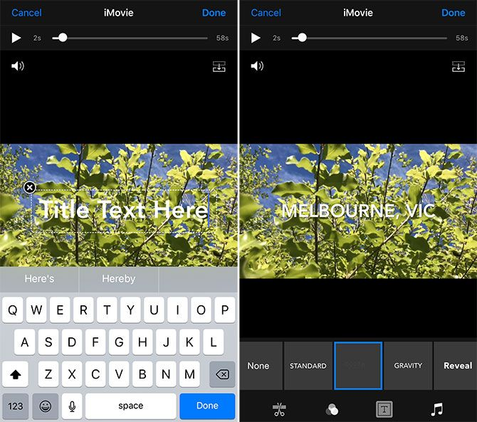 how to edit videos on iphone - Add Text to Video