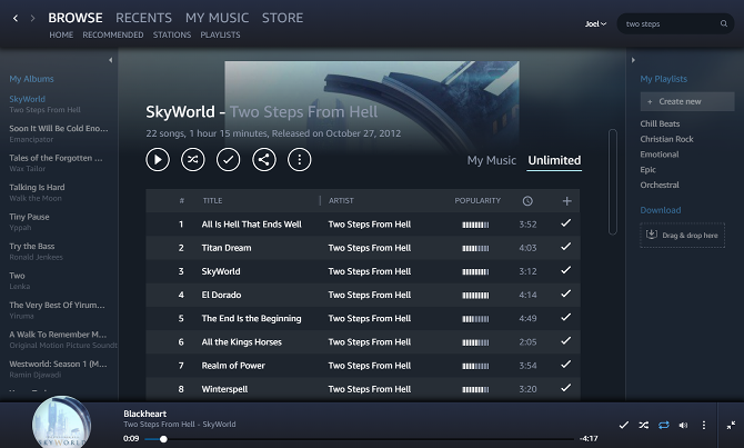 amazon music unlimited desktop