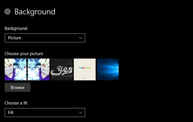 multiple displays windows 10 - background options