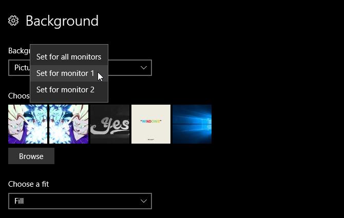 2 monitore 2 hintergrundbilder windows 10
