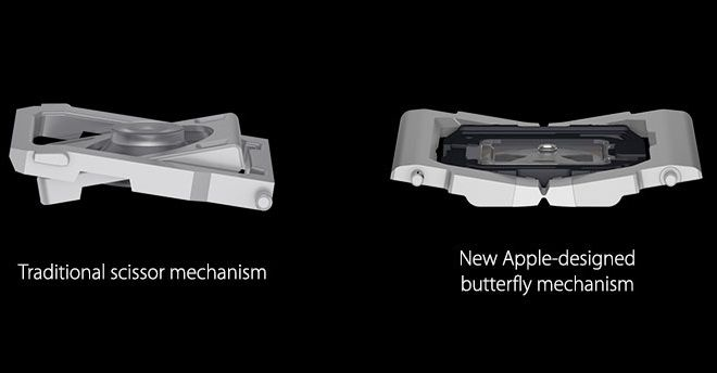 macbook keyboard not working - Scissor keyboard vs. butterfly keyboard
