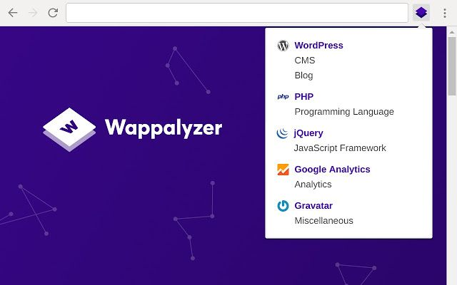 chrome extensions for programmers - wappalyzer