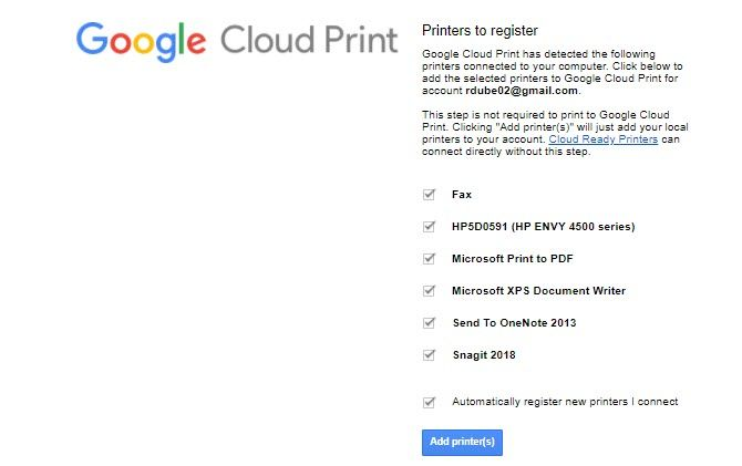 Fix Chromebook Annoyances - cloud print